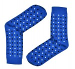 Dots Socks (blue with black & white dots)