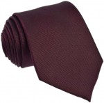 Plain Brown / Claret Tie 100% Silk