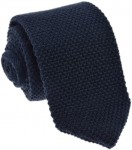 Knit Plain Navy Tie 100% Wool (2)
