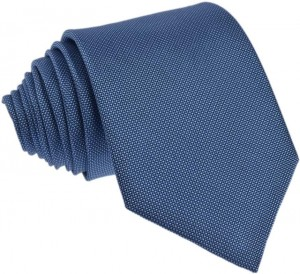 Plain Blue Tie 100% Silk (2)