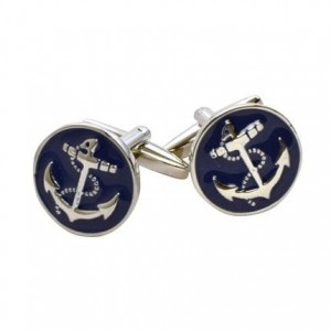 Anchor Cufflinks (navy)