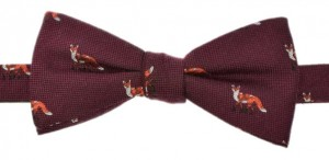 Bowtie 50% Silk / 50% wool - Foxes