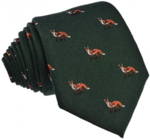 Fox Tie - Silk & Wool Blend (green)