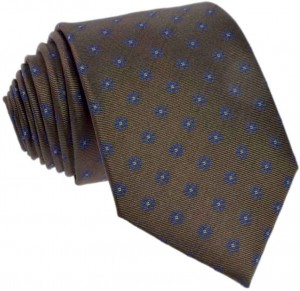 Floral Tie 100% Silk (brown 3)