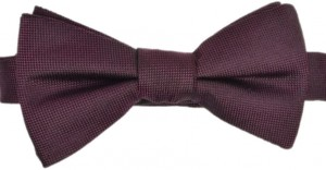 Bowtie 100% Silk Brown - Claret