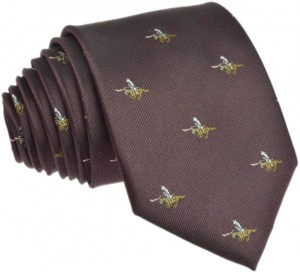 Hussar Tie 100% Silk (2) brown
