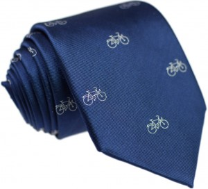 Bicycles Tie 100% Silk (small)
