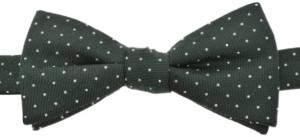 Microdots bowtie 50% Silk / 50% wool (green)