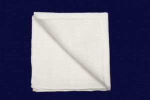 White Pocket Square 100% Linen