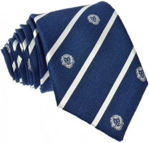 CLub Lion Tie 70% Silk / 30% Linen