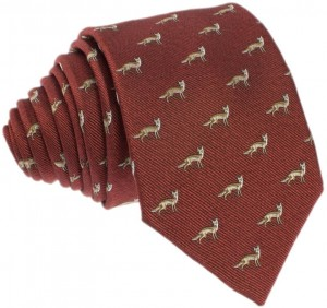 Foxes Tie 100% Silk (brown)