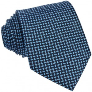 Navy & Blue Tie 100% Printed Silk