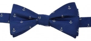 Bowtie 100% Silk - Anchor (navy)