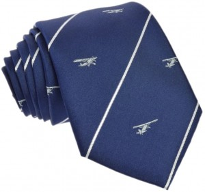 Regimental Tie 100% Silk (Airplane) Navy