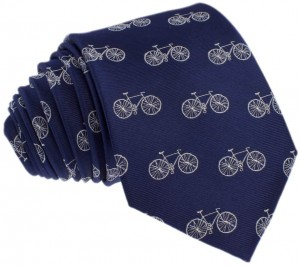 Bicycles Tie 100% Silk (navy)