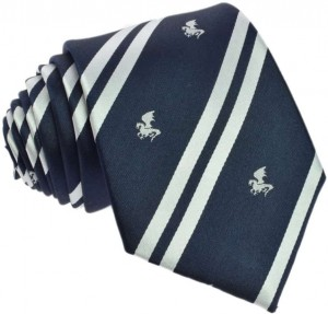 Regimental Tie 100% Silk (White Dragon)