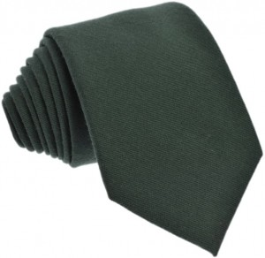 Plain Green Tie 50% Silk / 50% Wool