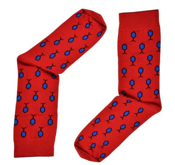 efa35f93fa36a4 Skarpety czerwone z wzorem Republic of Ties